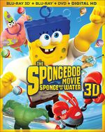 The SpongeBob Movie - Sponge Out of Water 3D Blu-ray