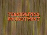 Thanksgiving Beenactment