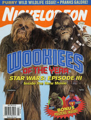 Nickelodeon Magazine cover May 2005 Wookies Star Wars Episode III