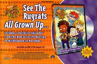 Rugrats All Grown Up DVD release print ad NickMag Sept 2003