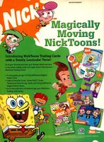 Nicktoons Trading cards print ad Nick Mag June July 2004