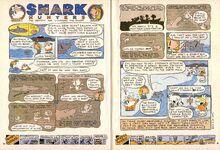 Nickelodeon Magazine Grampa Julie Shark Hunters Nov 2002