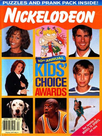 File:Nickelodeon magazine cover april 1997 kids choice awards.jpg