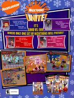 Nicktoons Unite game print ad NickMag Dec Jan 2006