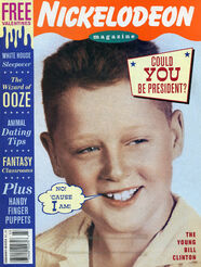Nickelodeon Magazine cover February March 1994 Young Bill Clinton