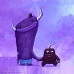 Robot and Monster Best Friends Forever (Dave Pressler concept)