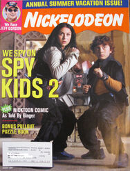 Nickelodeon Magazine cover August 2002 Spy Kids