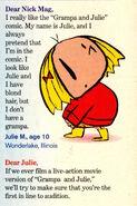 Nickelodeon Magazine November 2000 Grampa Julie Shark Hunters Letter to Editor