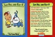 Sam Hill and Ray-9 trading card Nick Mag comic