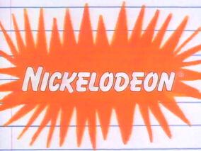 Nickelodeon logo on looseleaf paper background