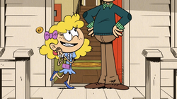 Lincoln disguised as a girl