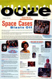 Space Cases interview Ooze News Nickelodeon Magazine March 1996