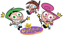 The Fairly OddParents logo with the main characters