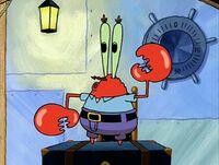 Mr. Krabs doing the robot dance