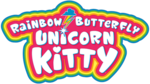 Rainbow Butterfly Unicorn Kitty logo