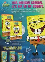 SpongeBob SquarePants 2002 Video Release Print Ad