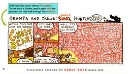 Grampa Julie Shark Hunters NickMag comic March 2006 3D