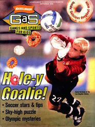 Nickelodeon GAS games and sports cover september 2000 kevin hartman