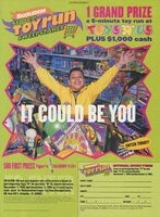 Nickelodeon Super Toy Run Sweepstakes print ad Nick Mag Dec 1995