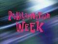 Prehibernation Week