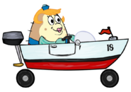 SpongeBob SquarePants Mrs. Puff in Boat-o-Cross 2