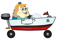 SpongeBob SquarePants Mrs. Puff in Boat-o-Cross 2