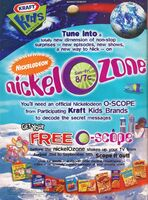Nickel-O-Zone Print ad Nick Mag September 1998