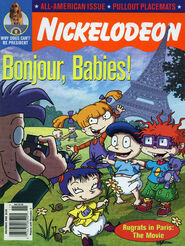 Nickelodeon Magazine cover November 2000 Rugrats in Paris