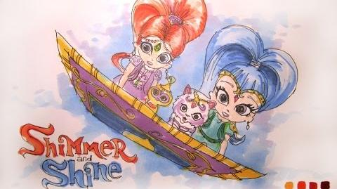 Cartoon Series Nick Jr's Shimmer and Shine Time-Lapse Drawing