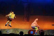 Spongebob-flying