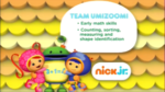 Team Umizoomi 2014 curriculum board