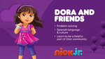 Dora and Friends 2018 curriculum board