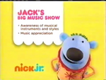 Jack's Big Music Show 2012 curriculum board