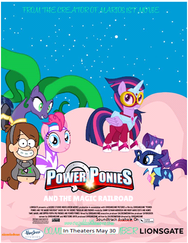 image power ponies and the magical railroad theatrical poster 2014