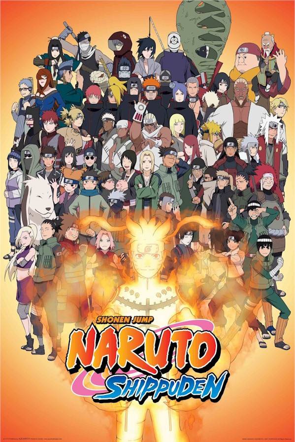 Cartoon Naruto Shippuden Mega Cast Poster AQU241173