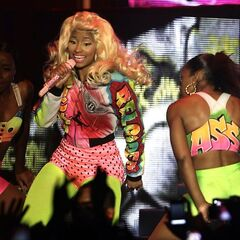 Nicki goes crazy on stage.