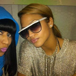 Nicki & Cassie backstage