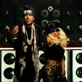 French Montana with Minaj at the <a href=