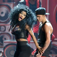 Justin and Nicki at the 2012 AMAs