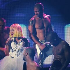Nicki gets hot with the boys.