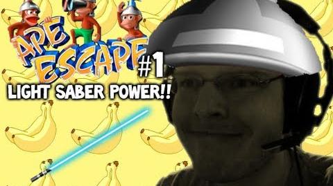 Let's Play - Ape Escape - 1 - LIGHT SABER POWER!!