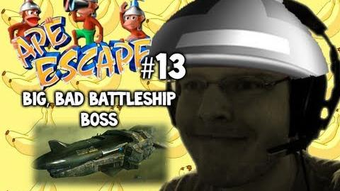Let's Play - Ape Escape - 13 - BIG, BAD BATTLESHIP BOSS