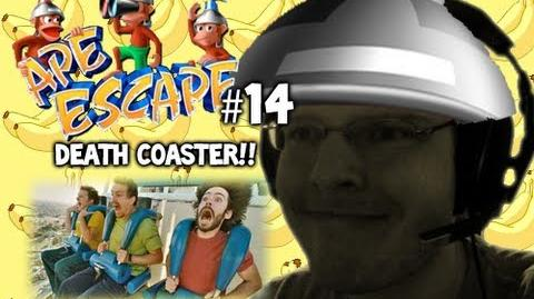 Let's Play - Ape Escape - 14 - DEATH COASTER!!