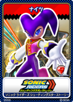 Sonic Tweet Card Zero Gravity NiGHTS