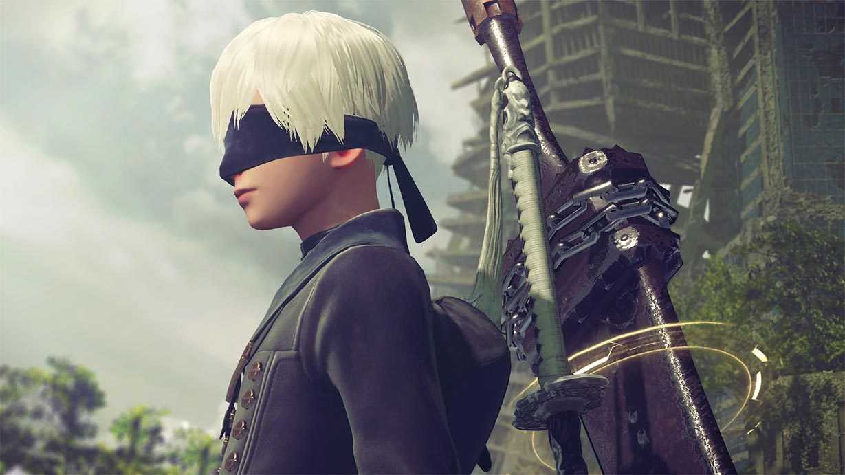 9S's close-up.