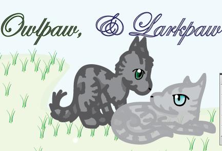 Warriors Owlpaw and Larkpaw