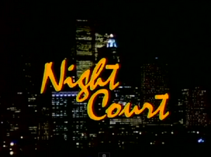 Night Court - Opening Screenshot of caption and NYC skyline