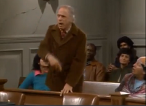 1x5 - Philip Sterling as Leonard Blum addressing court