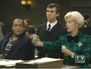 Night Court - For Love of Money - Mr. Poplinskly, Ms. Caswell and driver