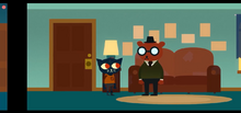 Mae Finds Angus at his Apartment